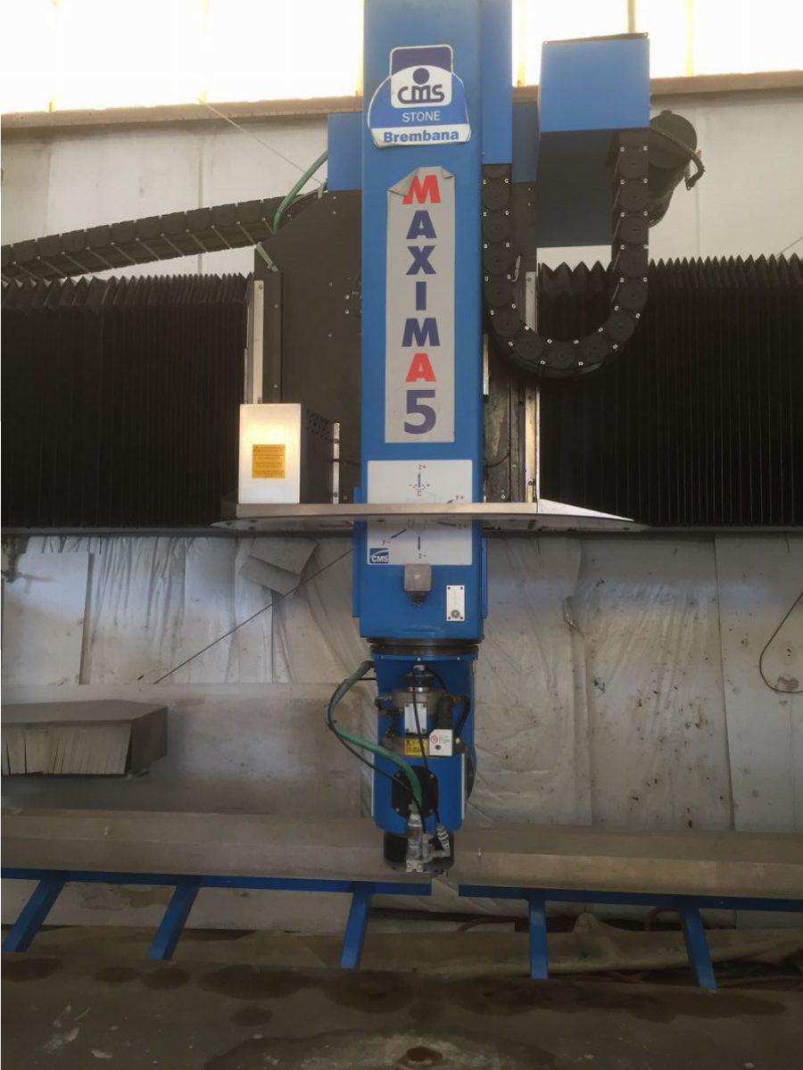 S) 2008- CNC 5 AXIS- Brembana CMS - Maxima - All Used Stone